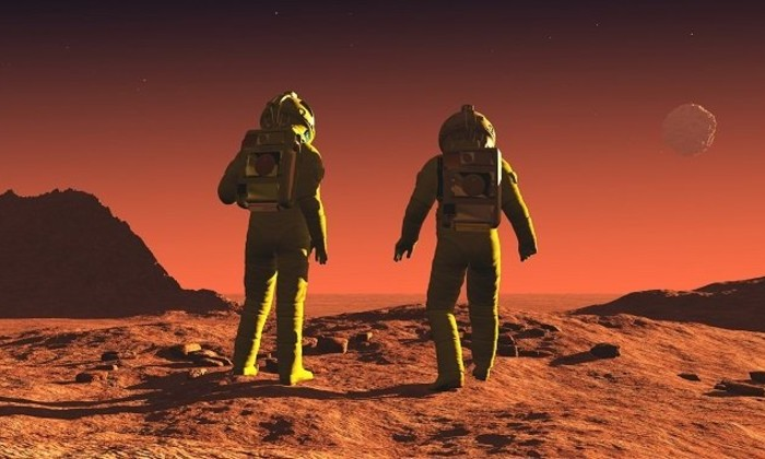 Будущее. Люди на Марсе
