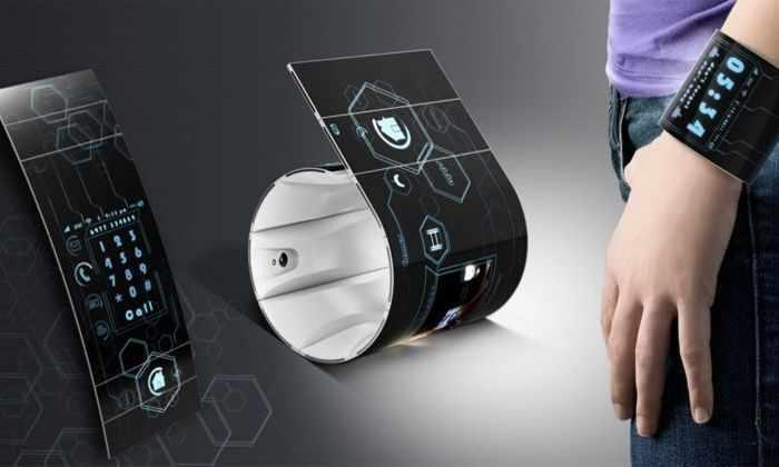 Китайцы выпустят первый в мире гибкий смартфон-браслет