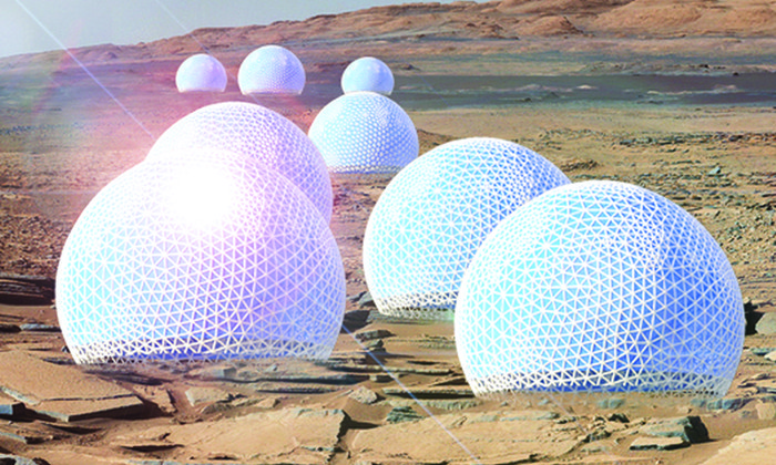 В США разработали проект по строительству на Марсе города-«леса»