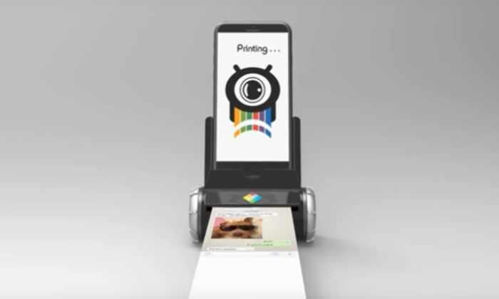 Видео: портативный принтер печатает изображения напрямую со смартфона
