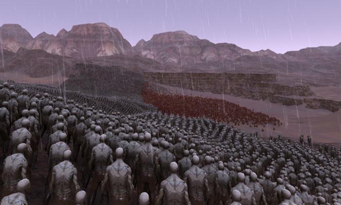 Видео: битву 300 спартанцев против 8000 зомби смоделировали на симуляторе