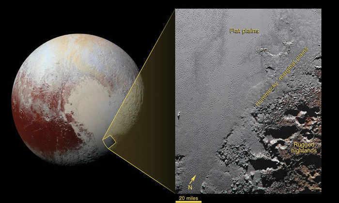 НАСА сделало детальный снимок высокогорья Плутона