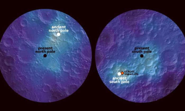 Луна сдвинулась со своей оси 3 миллиарда лет назад