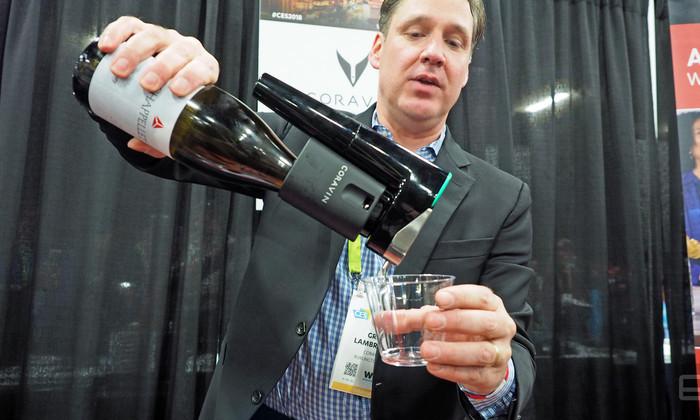 Создан штопор, который наливает вино, не откупоривая бутылку. И дает советы
