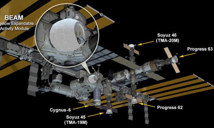 Жилой модуль BEAM надули на МКС