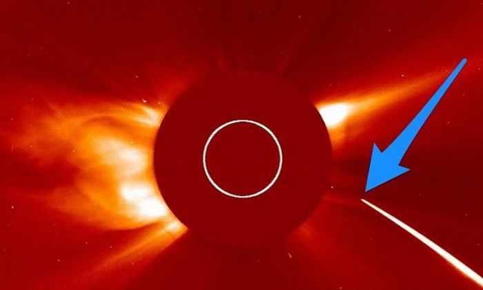 НАСА запечатлело на камеру, как комета врезалась в Солнце