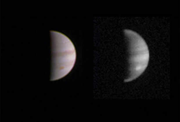 Станция Джуно подошла максимально близко к Юпитеру и сделала новые снимки