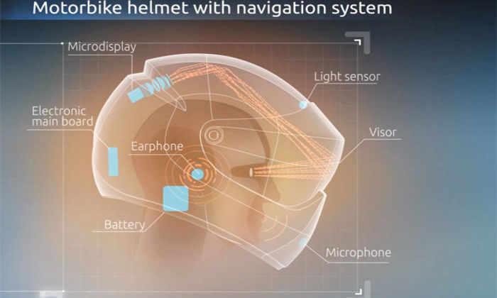 Следующим летом стартуют продажи уникального шлема дополненной реальности для мотоциклистов
