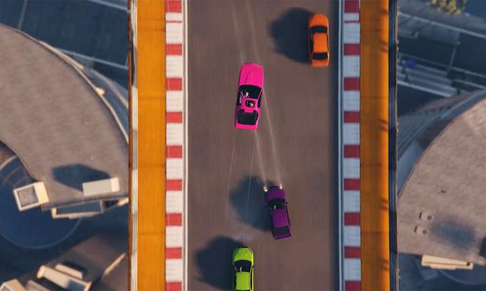 GTA онлайн получила гоночный режим свидом сверху